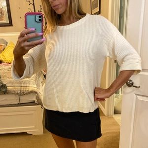 J crew ribbed cropped sweater Sz S